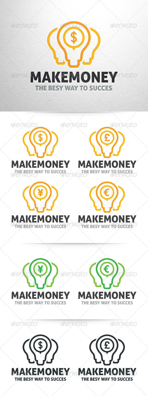 Make Money Logo Template - Symbols Logo Templates