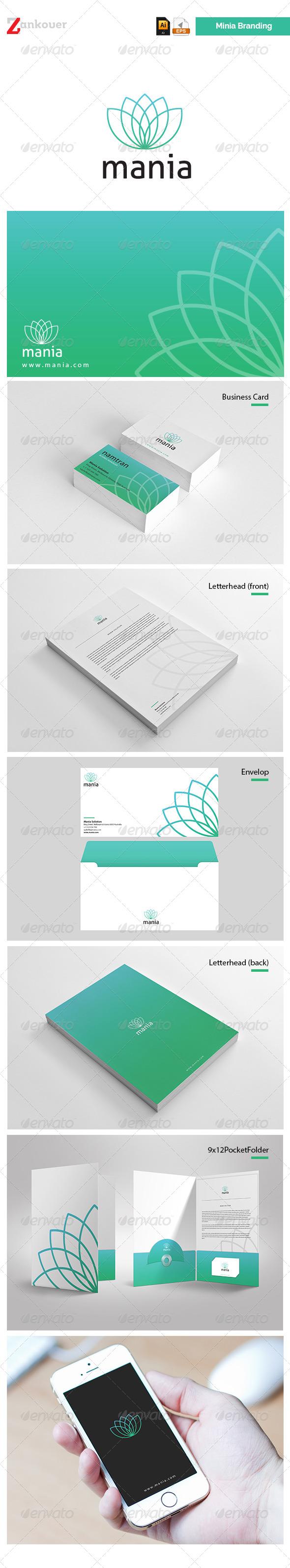 Stationary & Brand Identity - Mania - Stationery Print Templates