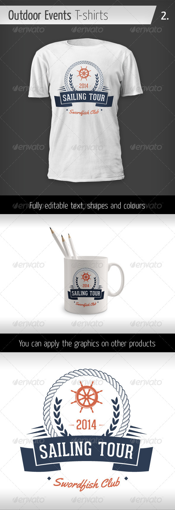 Outdoor Events T-shirts - Sailing Tour - Events T-Shirts