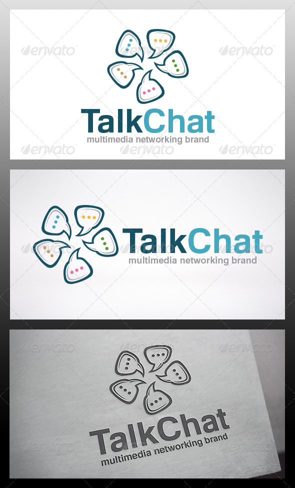 Chat Logo Template - Vector Abstract