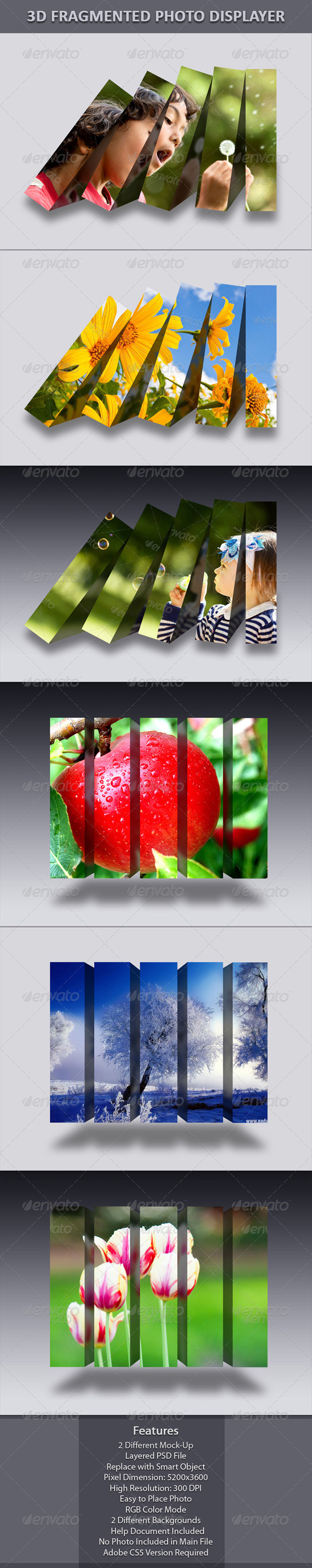3D Fragmented Photo Displayer - Miscellaneous Photo Templates
