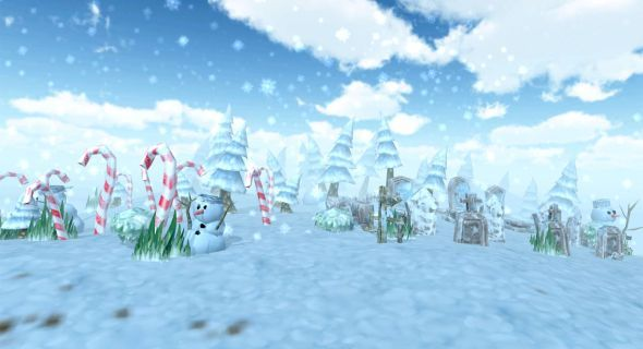 Lowpoly Forest - Winter - 3DOcean Item for Sale