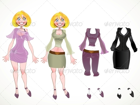Blond in Different Clothes - People Characters
