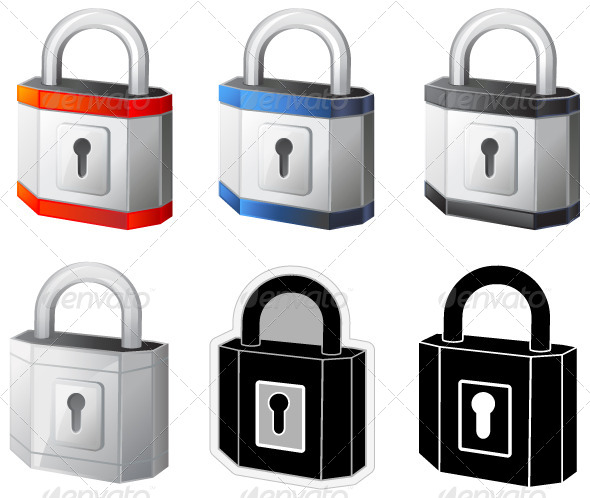 Padlock Illustration - Man-made Objects Objects
