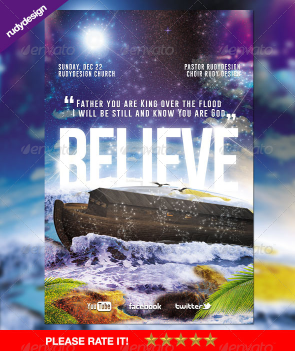 Believe Church Flyer Design By Rudydesign Graphicriver