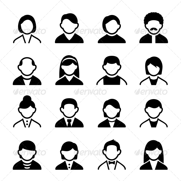 User Icons Set 3 - People Characters