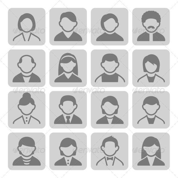 User Icons Set 3-2 - People Characters