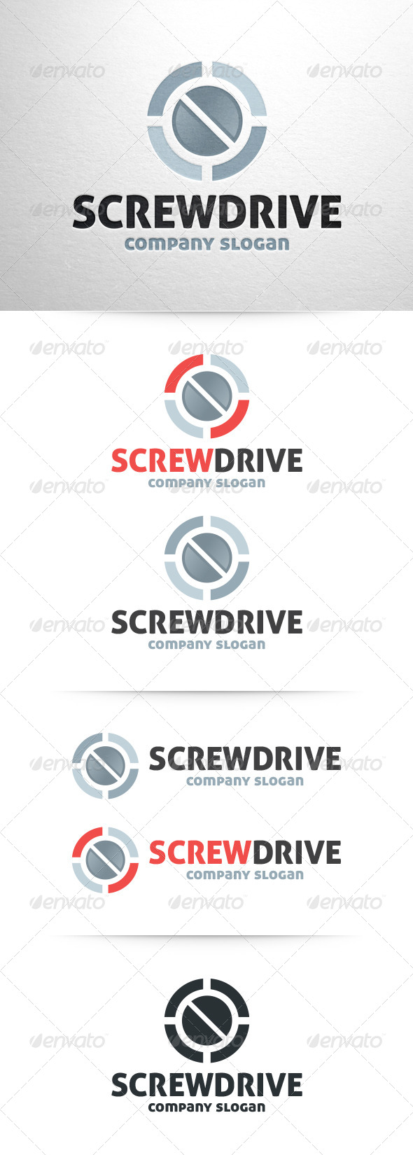 Screwdrive Logo Template - Objects Logo Templates