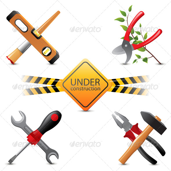 Under Construction Icons - Man-made Objects Objects
