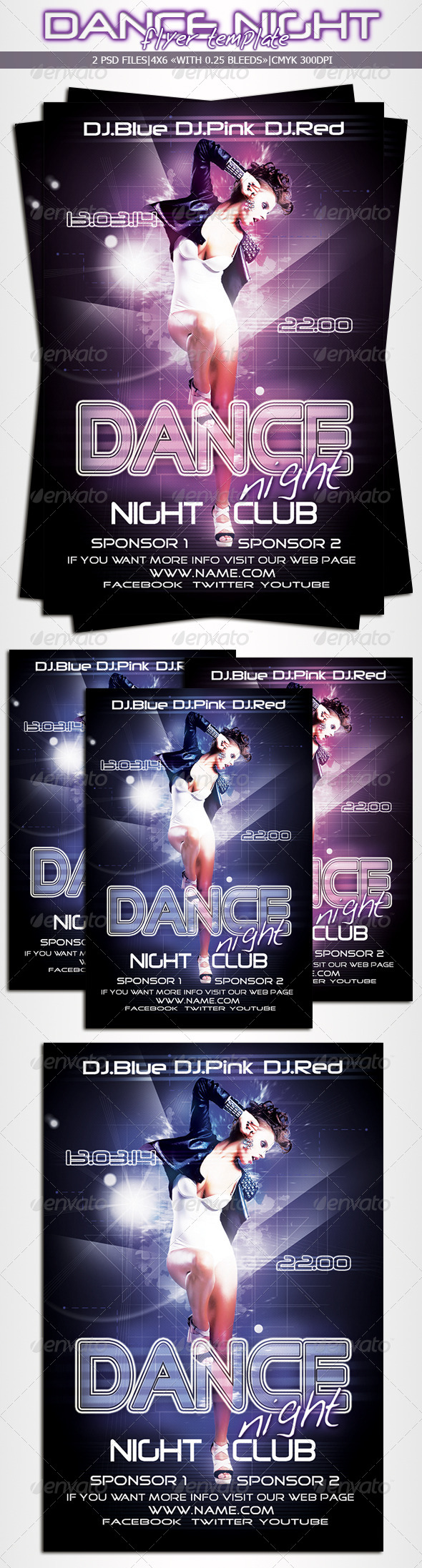 Dance Night Flyer - Clubs & Parties Events