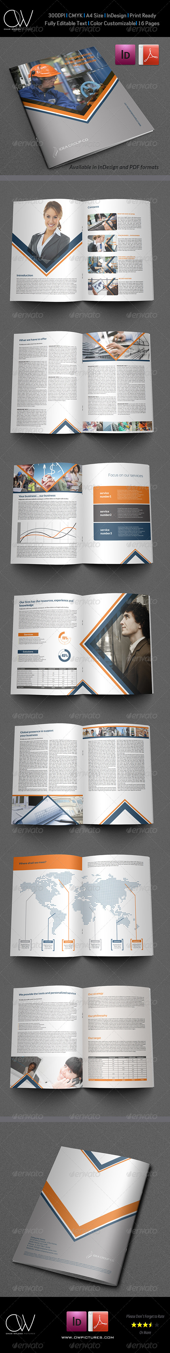 Company Brochure Template Vol.16 - 16 Pages - Corporate Brochures