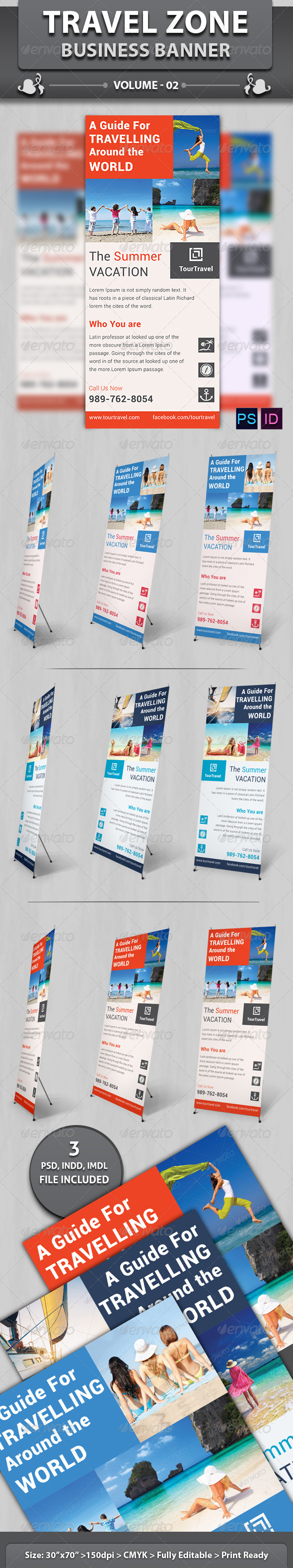 Travel / Touriasm Business Banner | Volume 2 - Signage Print Templates