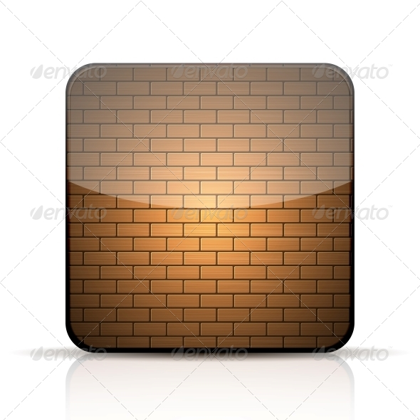 Brick App Icon - Web Elements Vectors