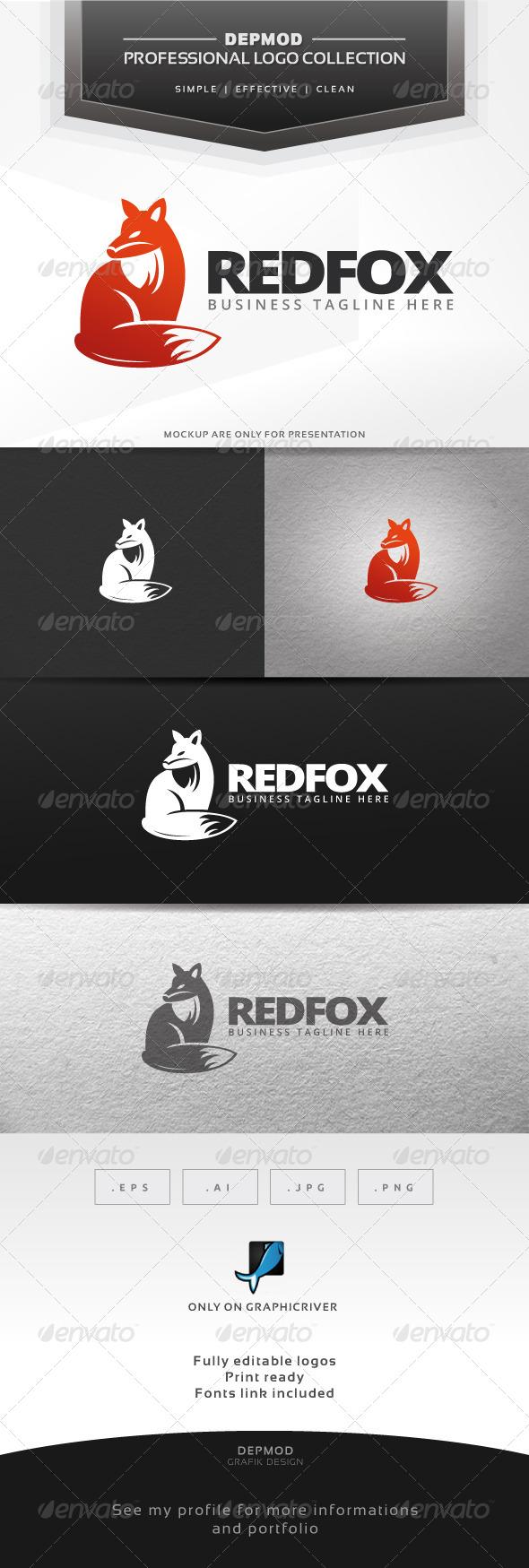 Red Fox Logo - Animals Logo Templates