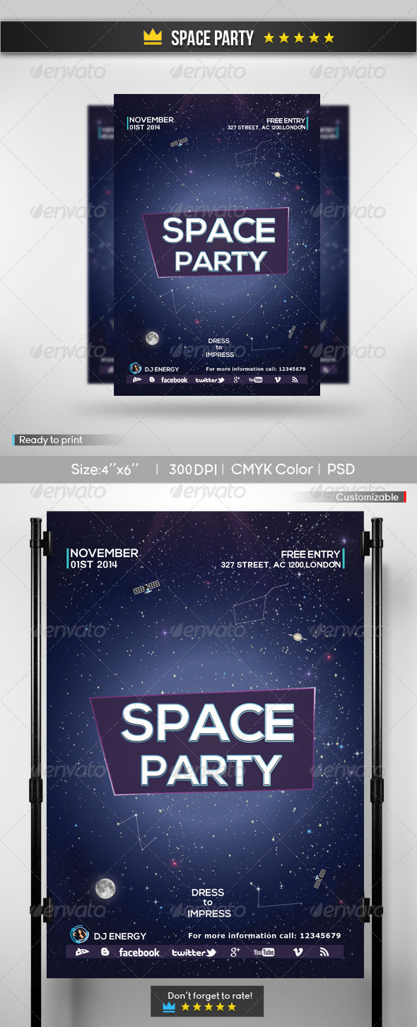 Space Party - Clubs & Parties Events
