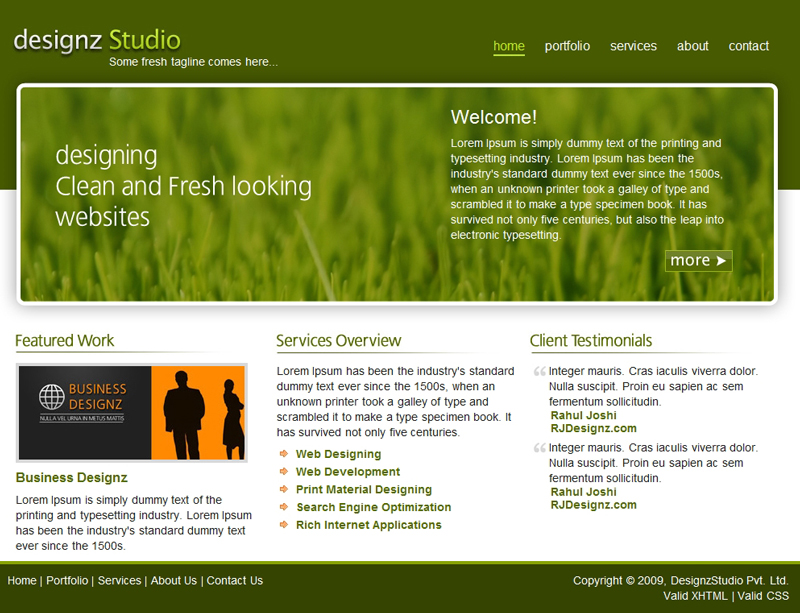 Free Download Fresh Green Business Template Nulled Latest Version