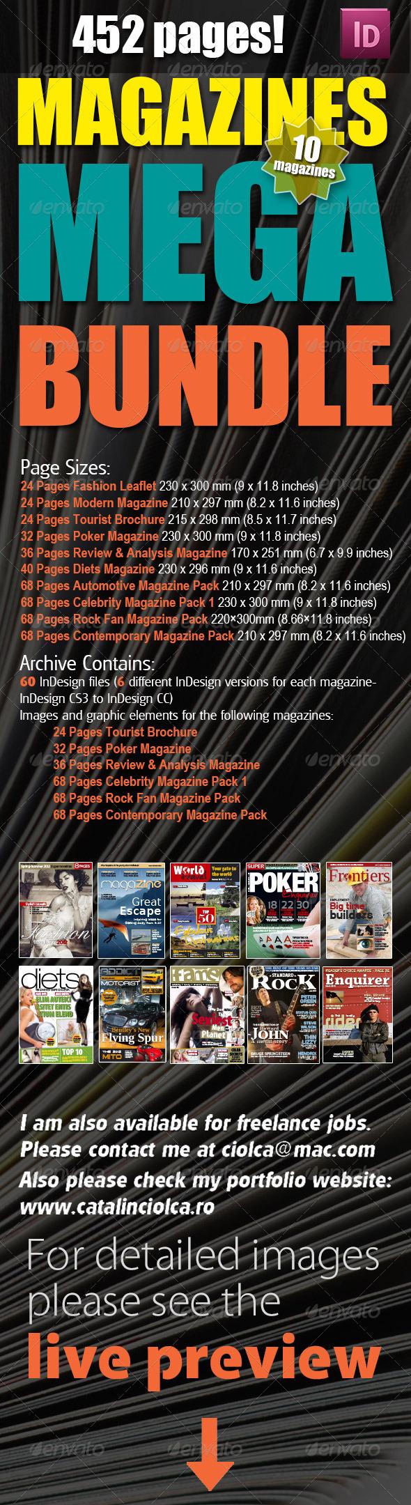 10 Magazines Mega Bundle - Magazines Print Templates