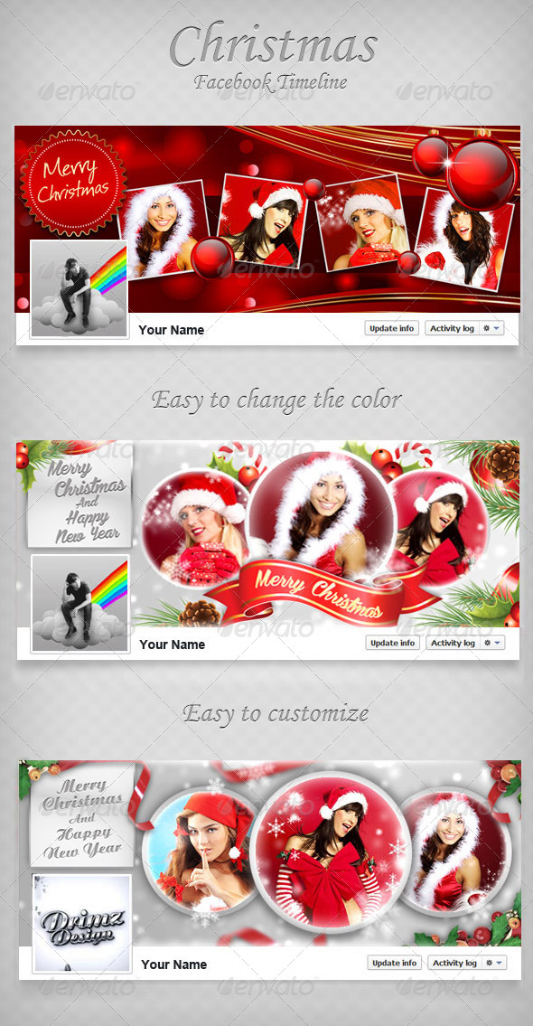 Christmas FB Timeline Bundle V2 - Facebook Timeline Covers Social Media