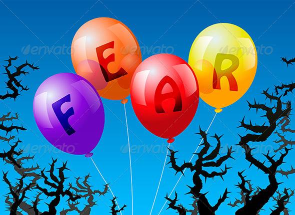 Balloons Fear - Conceptual Vectors