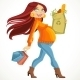 Pregnant Woman with the Health Food Package - GraphicRiver Item for Sale