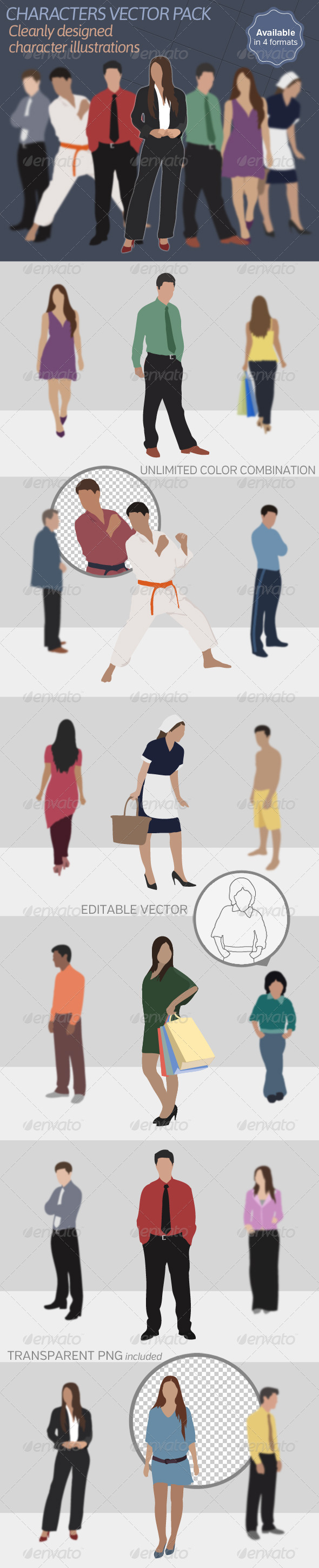 Characters Vector Pack - People Characters