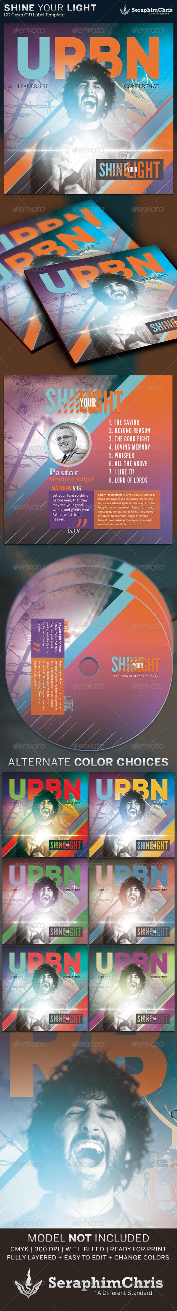 Shine Your Light: CD Cover Artwork Template - CD & DVD Artwork Print Templates