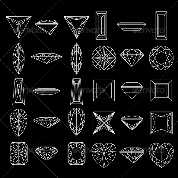 Shapes of Diamond Collection - Patterns Decorative