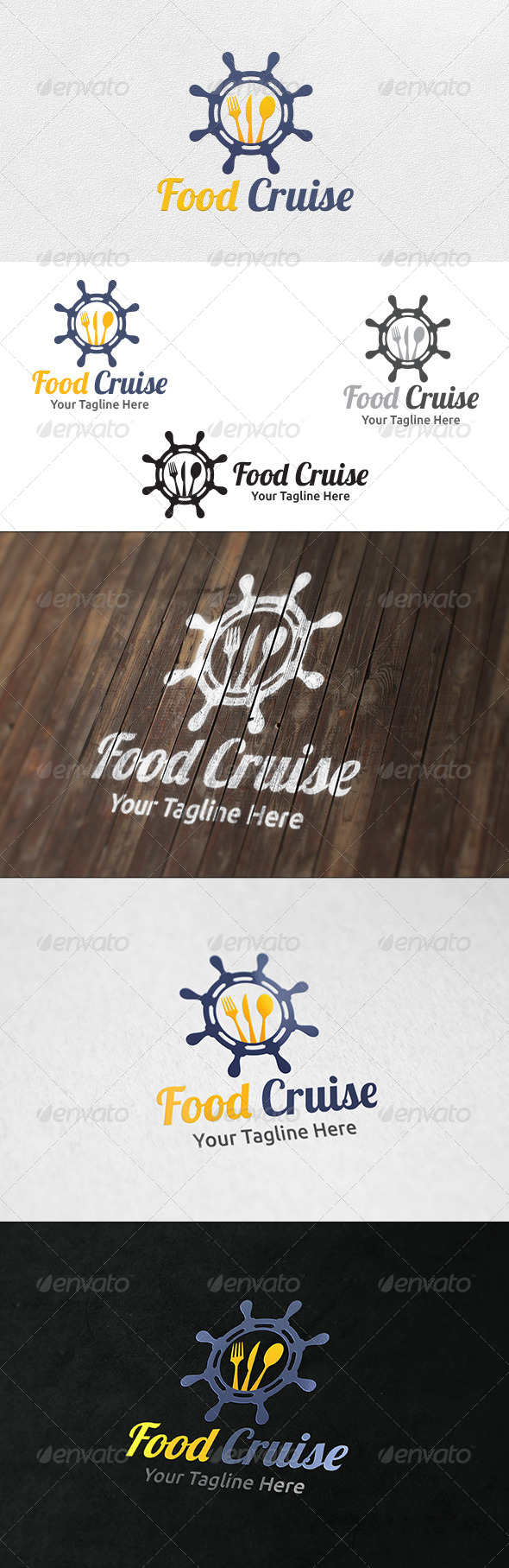 Food Cruise - Logo Template - Food Logo Templates