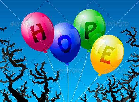 Balloons Hope - Religion Conceptual