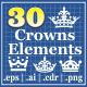 30 Crowns Elements v3 - GraphicRiver Item for Sale