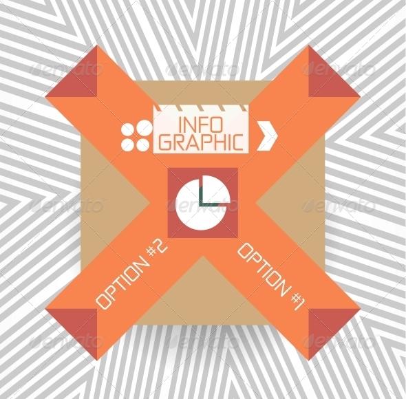 Geometric Infographic Retro Banner - Decorative Symbols Decorative