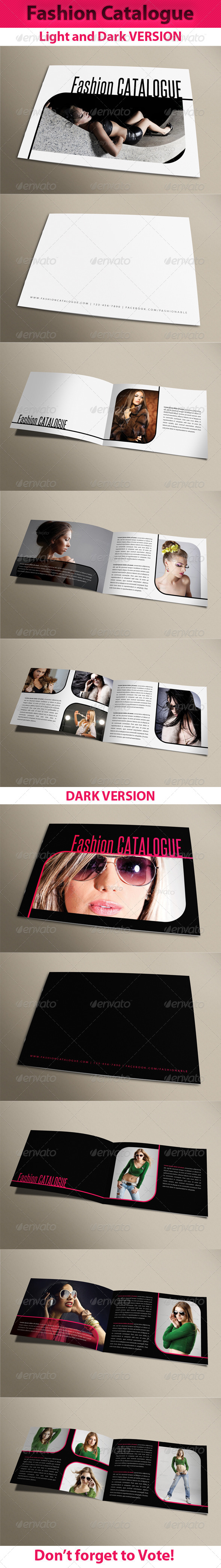 Fashion Catalogue 01 - Photo Albums Print Templates