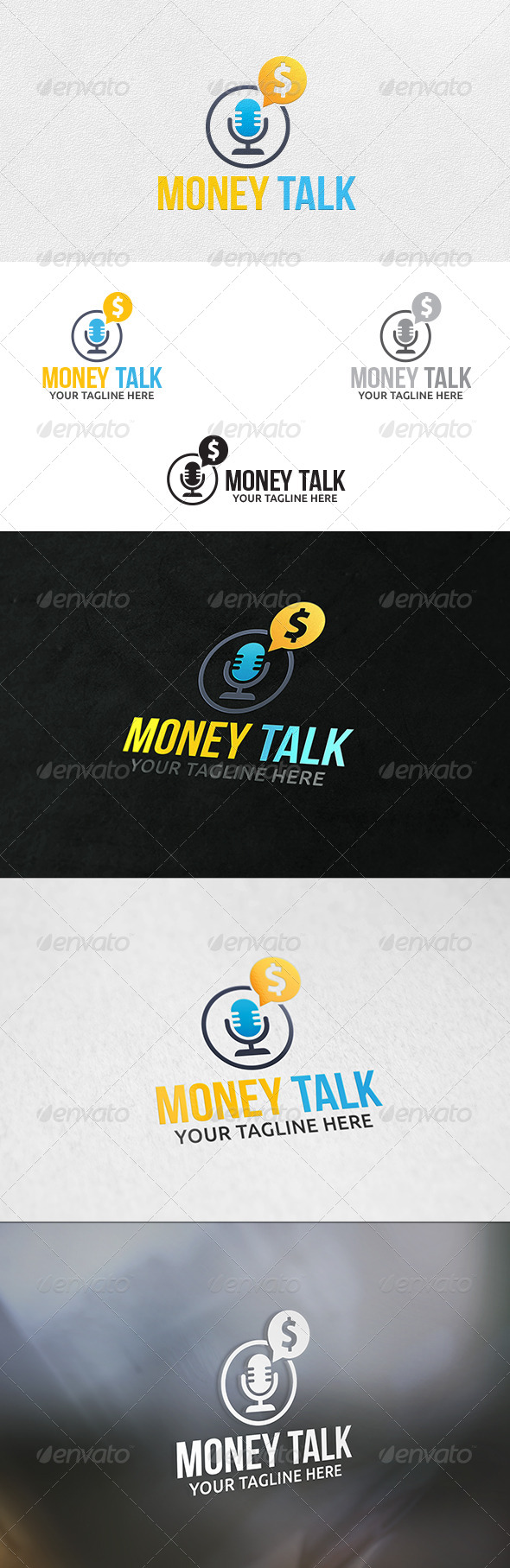 Money Talk - Logo Template - Symbols Logo Templates