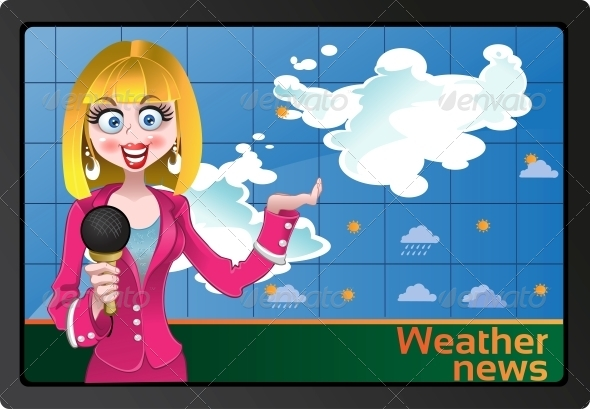Weather News - People Characters