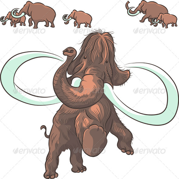 Herd of Mammoths - Animals Characters