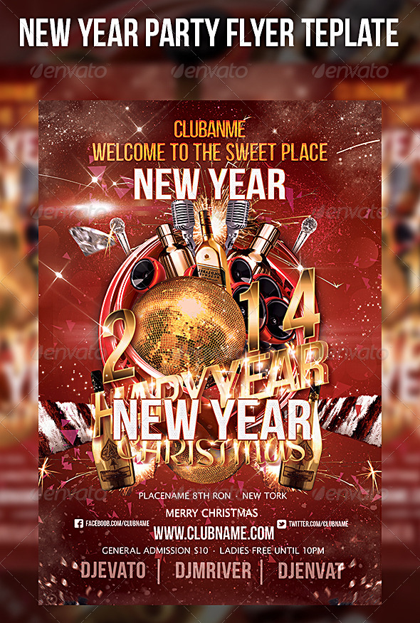 New Year Start Party Flyer Template - Events Flyers