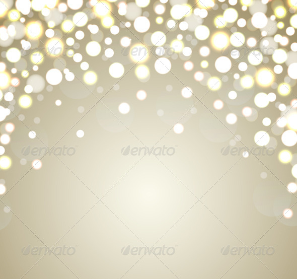 Abstract Golden Christmas Background - Christmas Seasons/Holidays