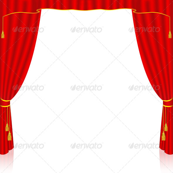 Red Curtain - Backgrounds Decorative