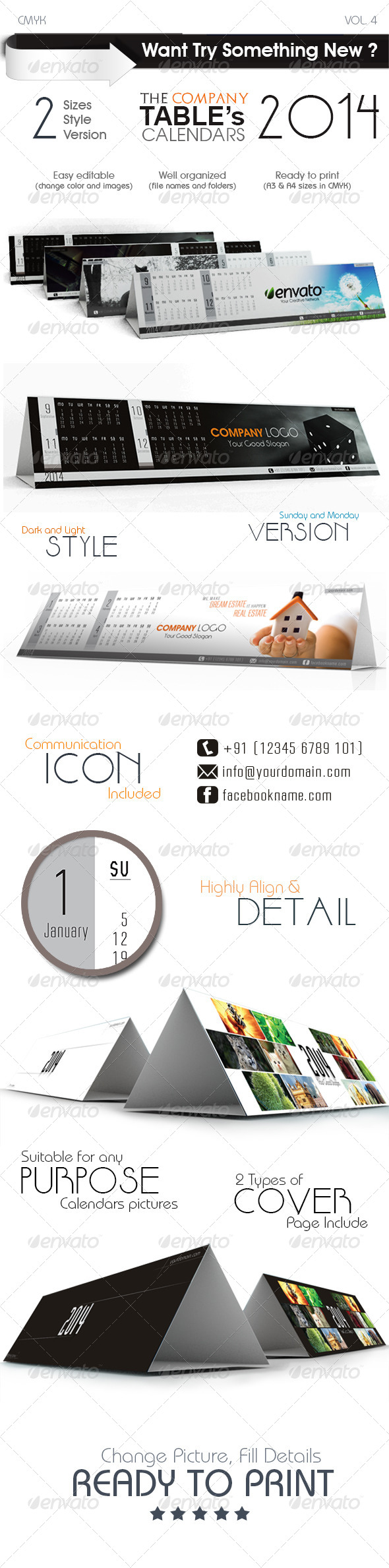 The Company Table Calendars - Calendars Stationery