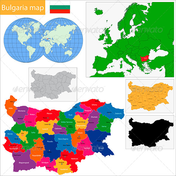 Bulgaria Map - Travel Conceptual