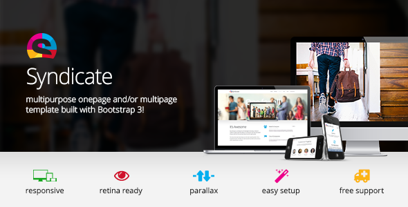 Syndicate – All Purpose Bootstrap Retina Template