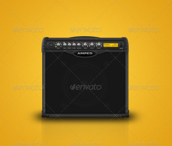 Guitar Amplifier - Objects Illustrations