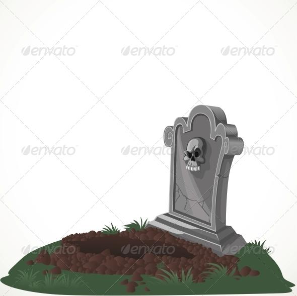 Halloween Decorations Tombstone and Dug Grave - Halloween Seasons/Holidays