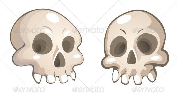 Vector Cartoon Skulls - Halloween Seasons/Holidays