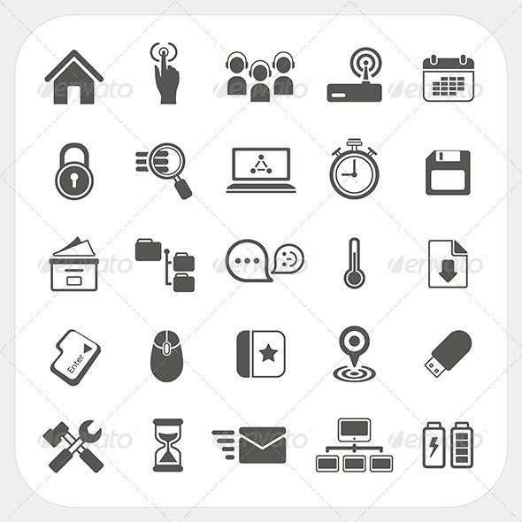 Web Icons Set - Web Technology