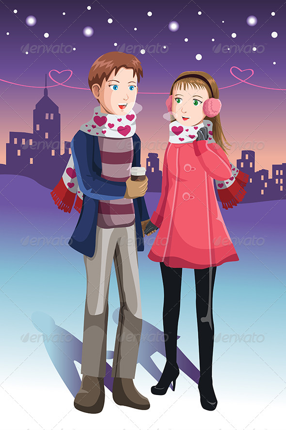 Young  Couple - Valentines Seasons/Holidays