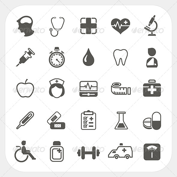 Medical and health Icons Set - Health/Medicine Conceptual