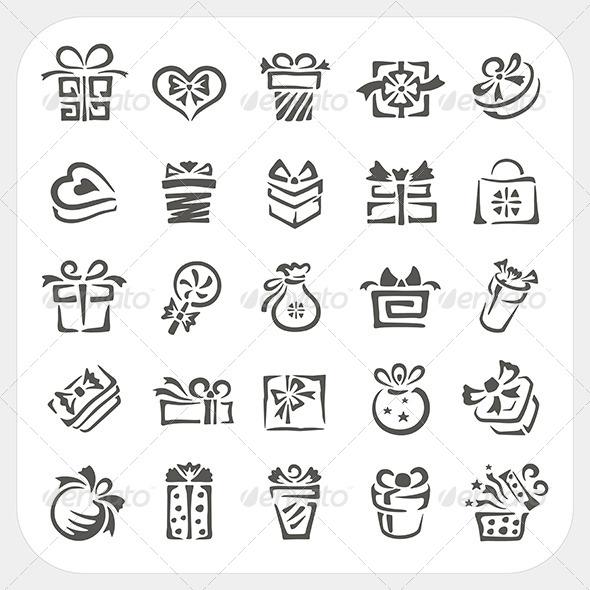 Gift Box Icons Set - Seasons/Holidays Conceptual