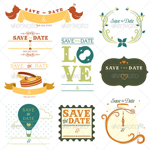 Save the Date Tag - Decorative Vectors