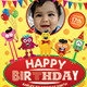 Kids Birthday Party Invitation Flyer - GraphicRiver Item for Sale